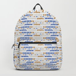 Hand Drawn Ethnic Patterns Stripes Backpack