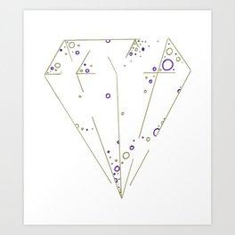 Diamond Art Print Art Print