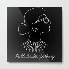 Notorious RBG Ruth Bader Ginsburg Metal Print
