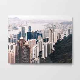 Hong Kong Sunset I Metal Print