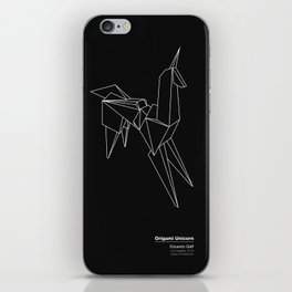 Origami Unicorn iPhone Skin