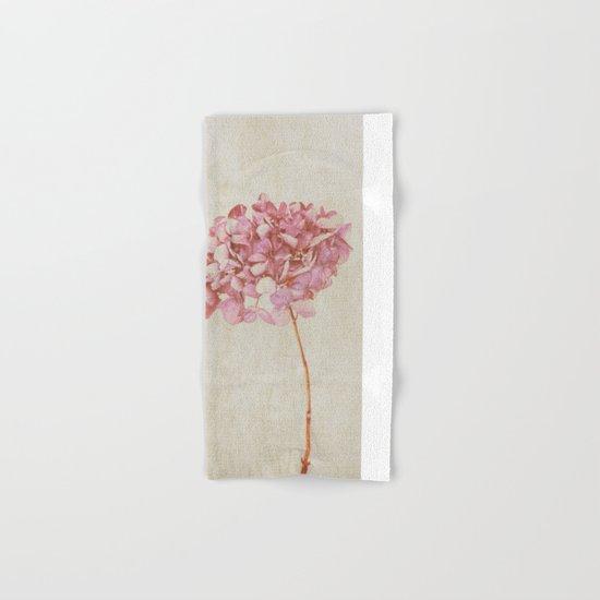 Pink Vintage Hydrangea Hand & Bath Towel