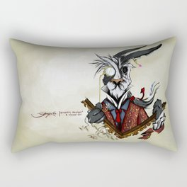 The March Hare Rectangular Pillow