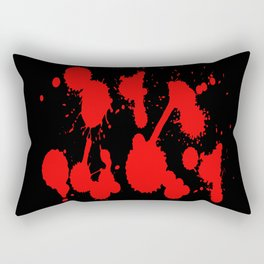 blood stains splatter on black Rectangular Pillow