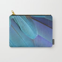 Blue Macaw Feathers Carry-All Pouch