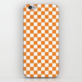 Orange Checkerboard Pattern iPhone Skin