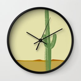 The Lonely Cactus - Summer Wall Clock