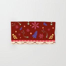 Otavalo print - red Hand & Bath Towel