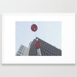 Paper Lanterns in Kuala Lumpur Framed Art Print
