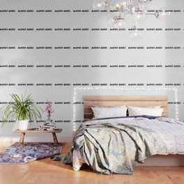 'Bueno Aires' Argentina Hand Letter Type Word Black & White Wallpaper