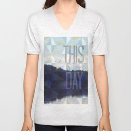 This is the Day Christian Design Unisex V-Neck