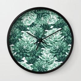 Succulents Pattern #1 #GreenVibes #decor #art #society6 Wall Clock
