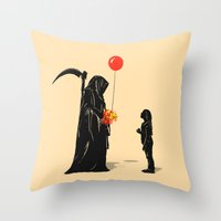 gift card Throw Pillows featuring Gift by nicebleed