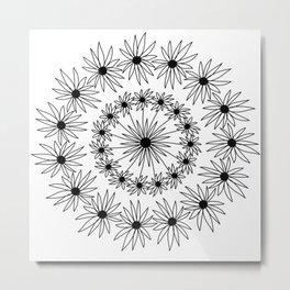 Daisy Mandala Metal Print