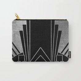 Art deco design - silver glitz Carry-All Pouch