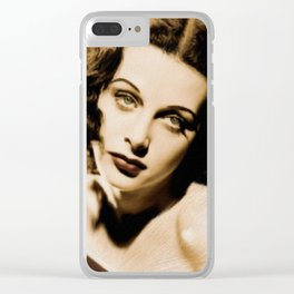 Hedy Lamarr Clear iPhone Case