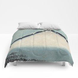 Hokusai, the blue fuji- hokusai,manga,japan,fuji, blue fuji,Shinto Comforters