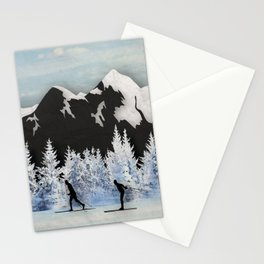 Cross Country Skiing Stationery Cards