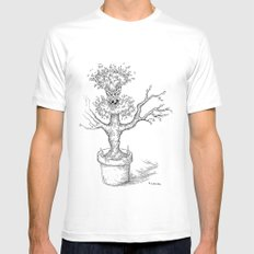Toothy Tree MEDIUM Mens Fitted Tee White