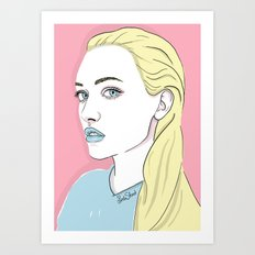 Pastel candy Art Print