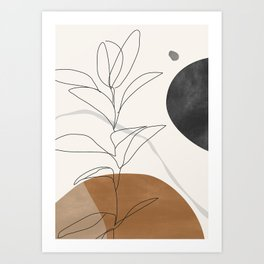 Abstract Art /Minimal Plant Art Print
