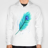indigo Hoodies featuring Indigo by N. Rogers Fine Art