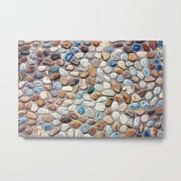 Pebble Rock Flooring V Metal Print