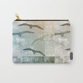 Seagull mixed media artwork Carry-All Pouch