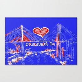 I love Savannah blu Canvas Print