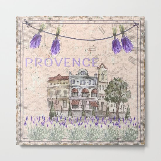 Provence France - my love  - Lavender and Summer on #Society6 Metal Print