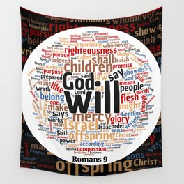 Romans 9 Word Cloud Wall Tapestry