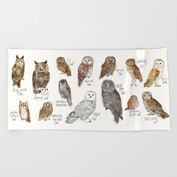 Owls Beach Towel