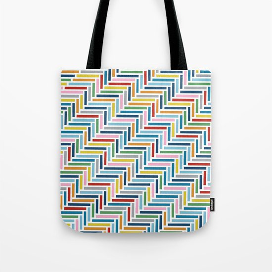 Herringbone 45 Colour Tote Bag