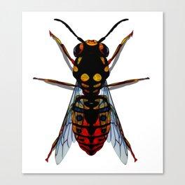 Dark Dangeous Wasp Canvas Print