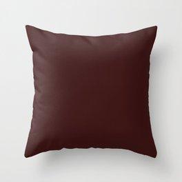 Dark Sienna Brown Throw Pillow