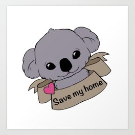 save my home Art Print