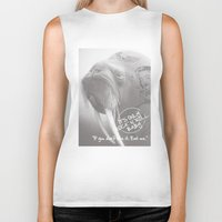 rock and roll Biker Tanks featuring rock&roll by Necla Karahalil