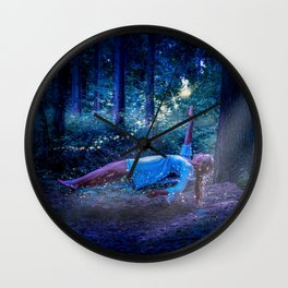 Woman Floating In Nature Wall Clock