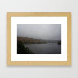 Ladybower in the rain Framed Art Print