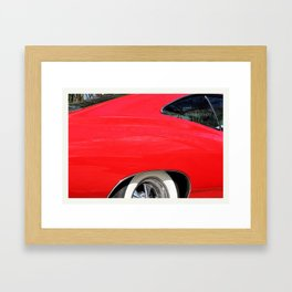 Classic Red Chevy Impala detail 1965 photo Framed Art Print