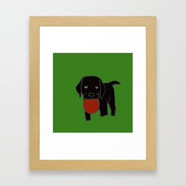 Black Lab Puppy Framed Art Print