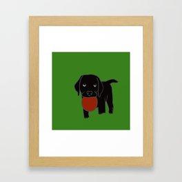 Black Lab Puppy Framed Art Print