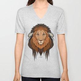 Tribal Lion Unisex V-Neck