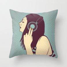 loud silence Throw Pillow