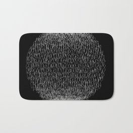Abstract scribble circle banner. Bath Mat