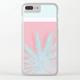 Aqua Palm Love Clear iPhone Case