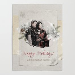 OUAT HAPPY HOLIDAYS // OUTLAW QUEEN Poster