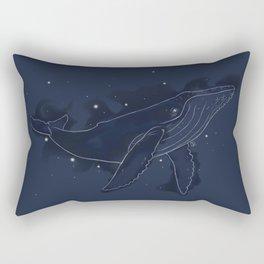 Spacial Whale Rectangular Pillow