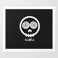 DarkSpirals Collection: Skull Art Print