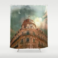 france Shower Curtains featuring Montpellier  - France by Victoria Herrera